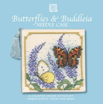 Butterflies and Buddleia Needle Case  Cross Stitch Kit